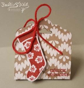 KreativStanz Nikolausstiefel Adventsgruss von Stampin' Up! Weihnachten christmas holiday Socken #stampinup #christmas http://kreativstanz.bastelblogs.de/