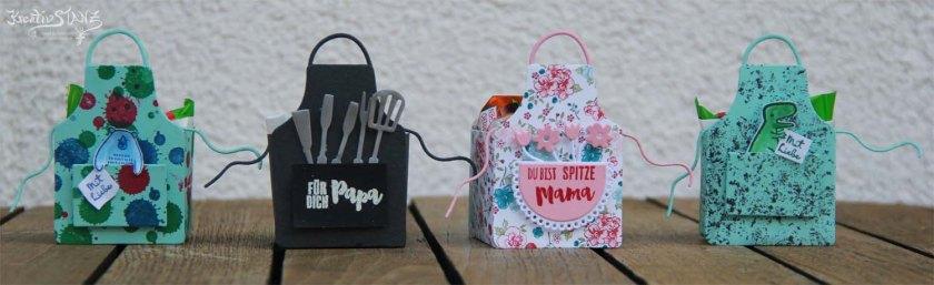 KreativStanz Schürze Framelits von Stampin' Up! Verpackung Anleitung #stampinup #apron http://kreativstanz.bastelblogs.de/
